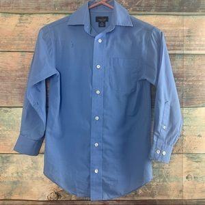 Boys Sz 8 Blue Class Club Button Down Shirt